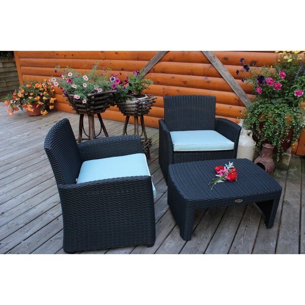 Angelica Patio Chair with Cushions by Highland Dunes