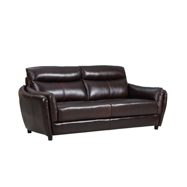 Liberty Street Top Grain Leather Sofa by Red Barrel Studio