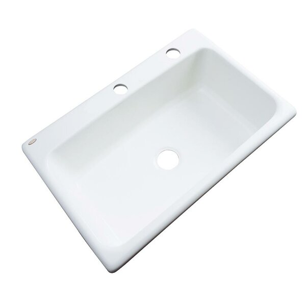 Wilmington 33 L x 22 W Kitchen Sink by Solidcast