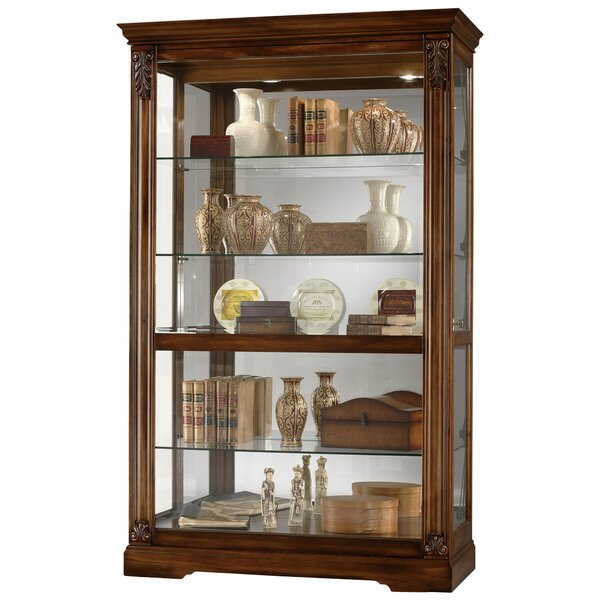 Bratcher Curio Cabinet in Tuscany Cherry by Darby Home Co