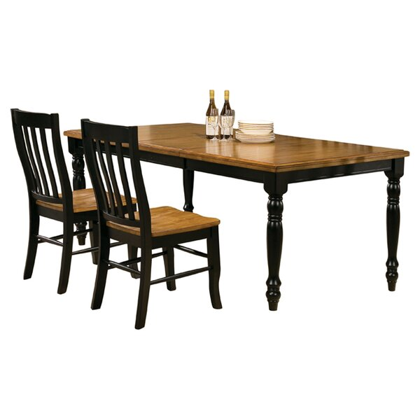 Courtdale 7 Piece Extendable Solid Wood Dining Set by Three Posts