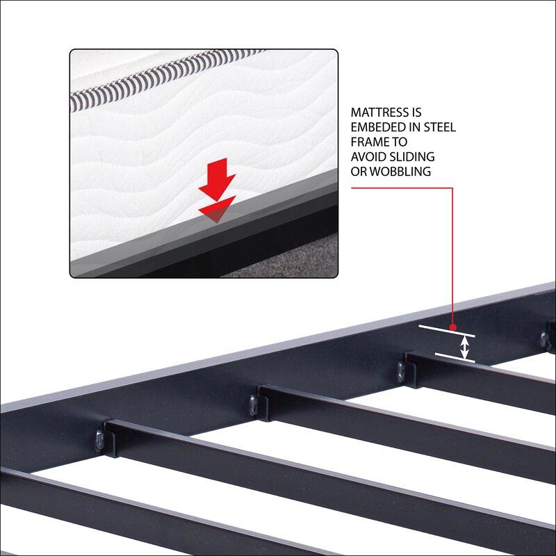 Latitude Run Yetter Steel Slat Bed Frame & Reviews | Wayfair