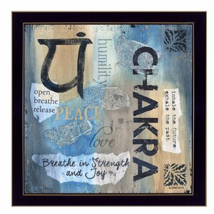 'Yoga Series - Chakra' Framed Graphic Art by Trendy Decor 4U
