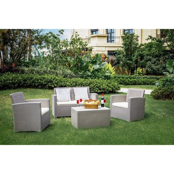 Allisson 4 Piece Sofa Seating Group with Cushions by Latitude Run