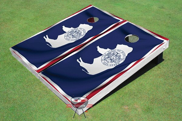 New Jersey State Flag Cornhole Board (Set of 2) by All American Tailgate