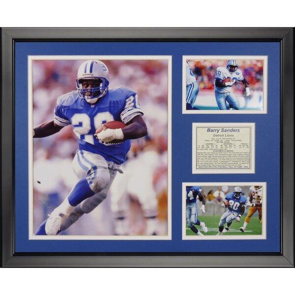 NFL Detroit Lions - Barry Sanders Framed Memorabili by Legends Never Die