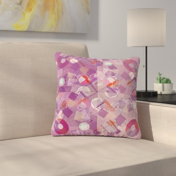 Cvetelina Todorova Purple Mess Abstract Outdoor Throw Pillow by East Urban Home