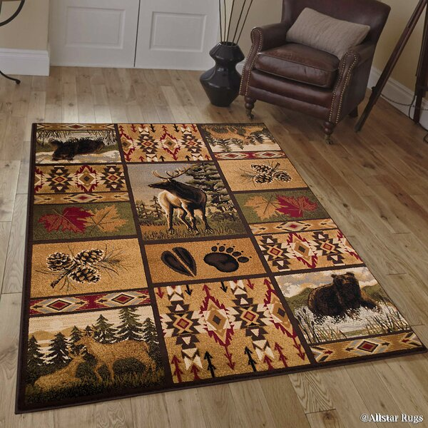 African Contours Brown Area Rug by AllStar Rugs