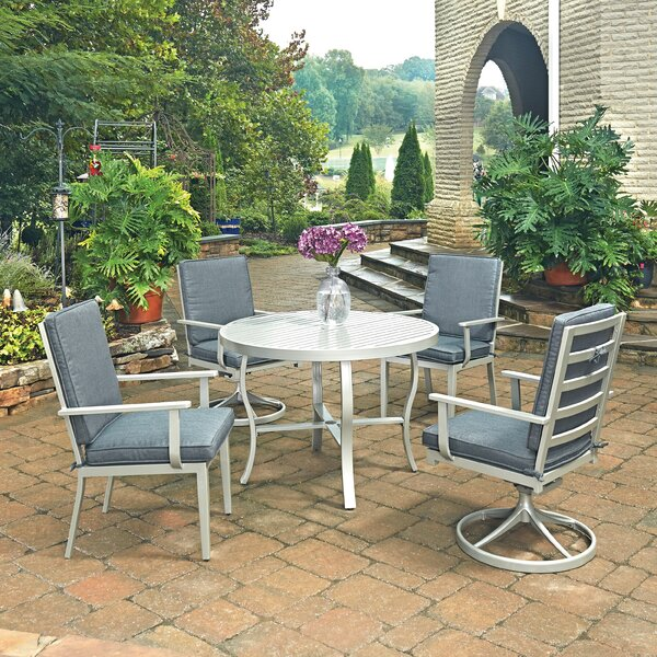 Dinan 5 Piece Dining Set with Cushion by Red Barrel Studio