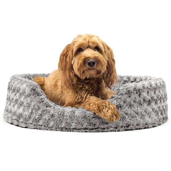 Ernie Ultra Plush Oval Pet Bed with Removable Cove