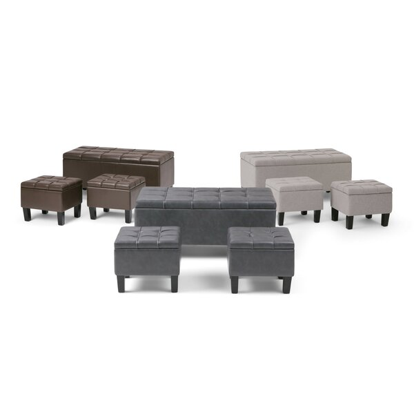 Washington Mews 3 Piece Storage Bench Set by Red Barrel Studio Red Barrel Studio