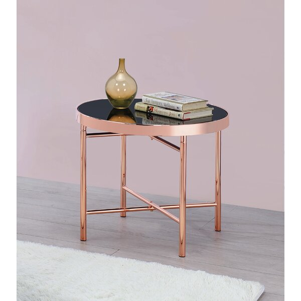 Round End Table Rose Gold by Mercer41 Mercer41