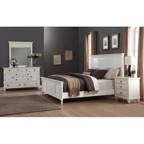 Regitina Queen Platform 4 Piece Bedroom Set by Roundhill Furniture