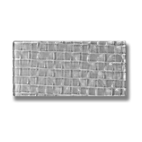 Metro 3 x 6 Glass Subway Tile in Pebble by Abolos