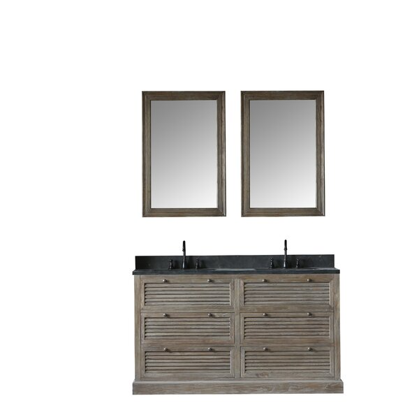 Sydney 61 Double Bathroom Vanity Set with Mirror by Millwood Pines