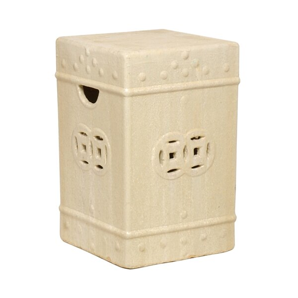 Charleson Square Ceramic Fortune Garden Stool by Bloomsbury Market
