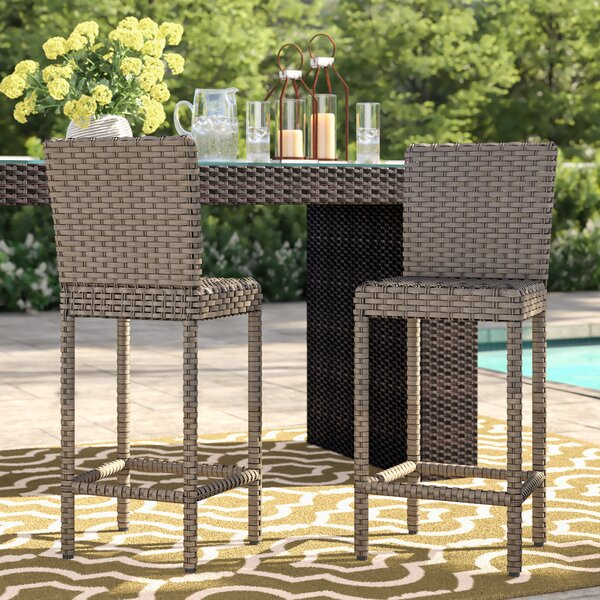 Rochford 30-inch Patio Bar Stool (Set Of 2) By Sol 72 Outdoor