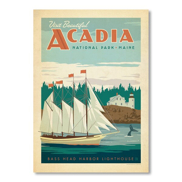 National Park Acadia Vintage Advertisement by East Urban Home