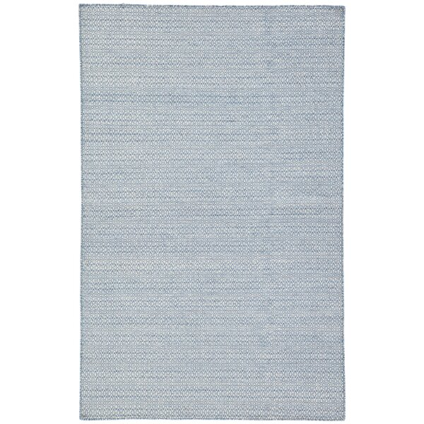 Finnerty Hand-Woven Wool Blue/Ivory Area Rug by Bungalow Rose