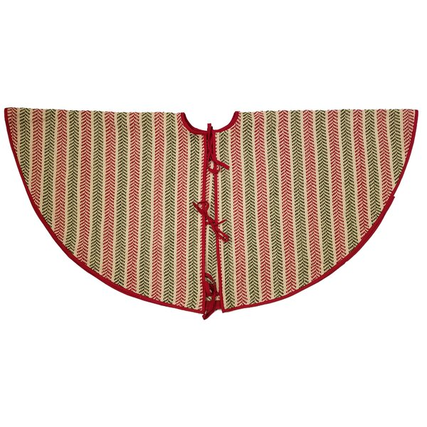 Frasure Chevron Christmas Tree Skirt by Alcott Hil
