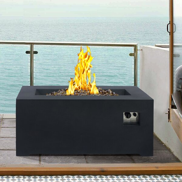 Laurel Stainless Steel Propane Fire Pit Table by Armen Living