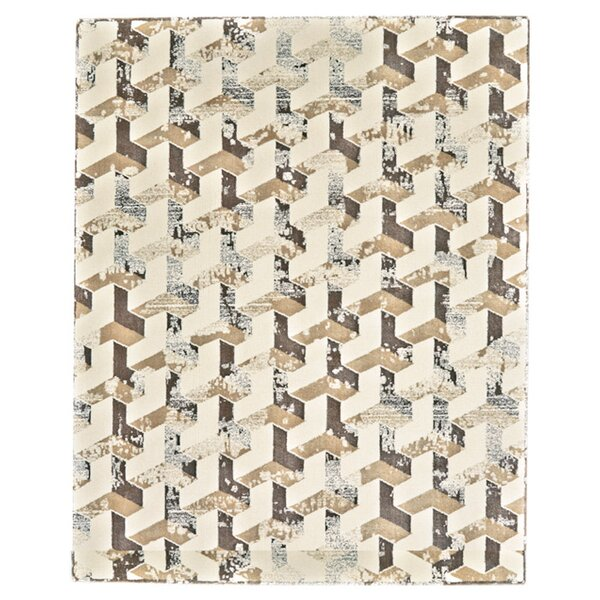 Gladwin Cream/Brown Area Rug by Willa Arlo Interiors