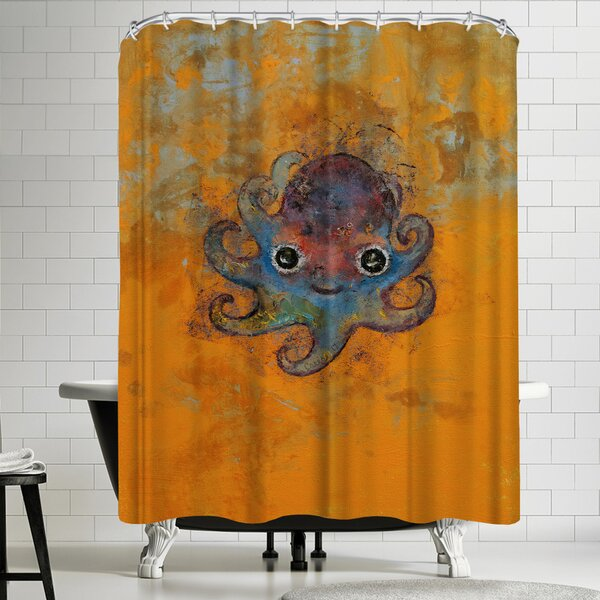 Michael Creese Baby Octopus Shower Curtain by East Urban Home