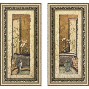 'Oriental Bath I' 2 Piece Framed Print Set by Astoria Grand