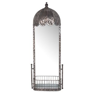 One Allium Way Metal Cheval Wall Mirror