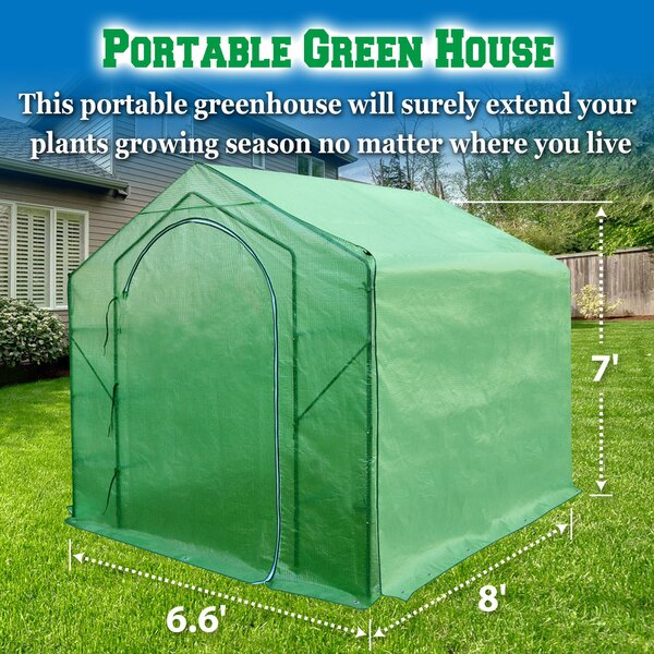 6.5 Ft. W x 8 Ft. D Greenhouse by Sunrise Outdoor LTD