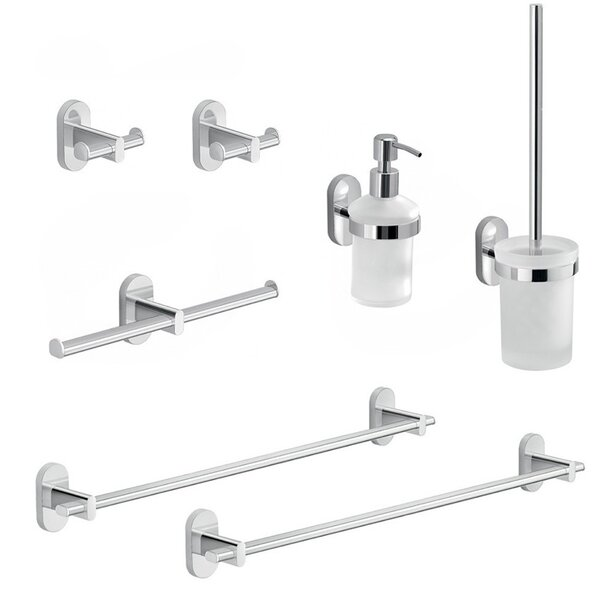 Febo 7 Piece Bathroom Hardware Set by Gedy by Nameeks