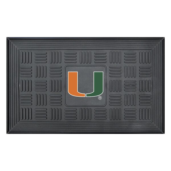 NCAA University of Miami Medallion Door Mat by FANMATS