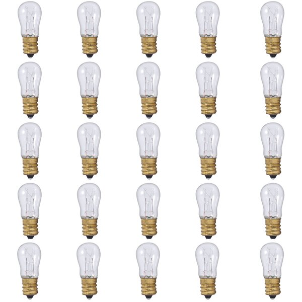 6W E12 Dimmable Incandescent Light Bulb (Set of 25) by Bulbrite Industries