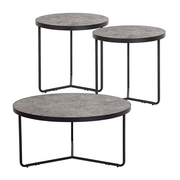 Mullinax 3 Piece Coffee Table Set by Williston Forge
