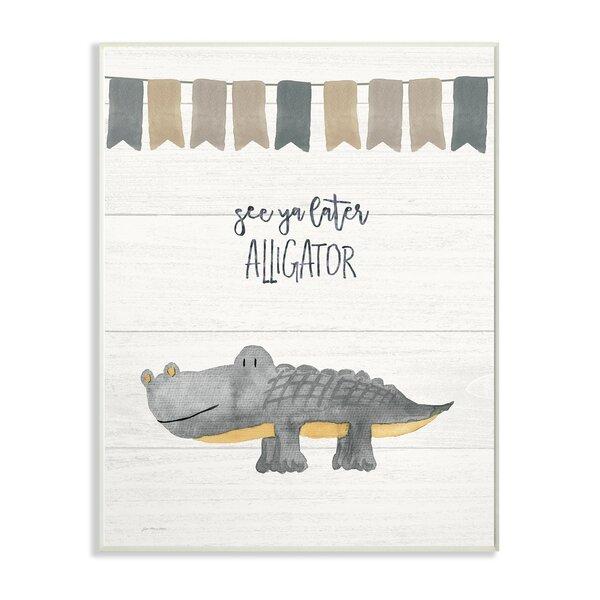 Feldmann See Ya Later Alligator Decorative Plaque by Harriet Bee