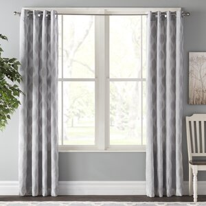Schmitt Ikat Max Blackout Grommet Single Curtain Panel