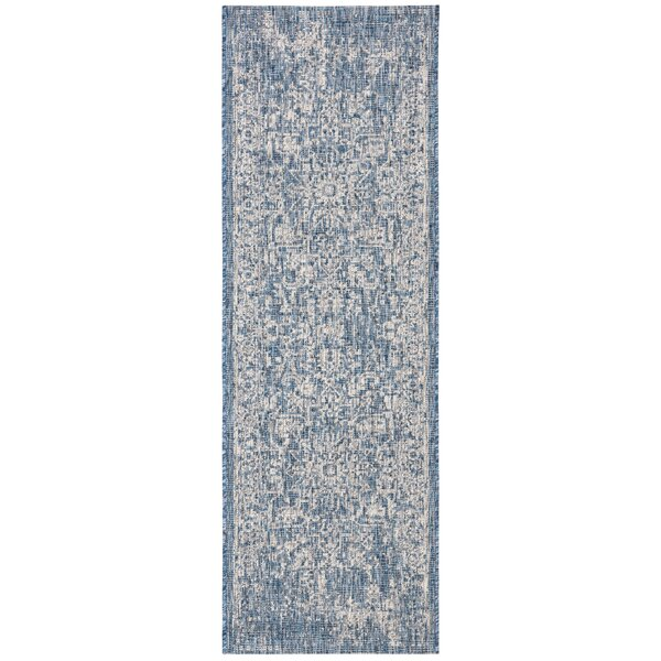 Nataly Blue Indoor/Outdoor Area Rug by Ophelia & Co.