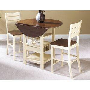 Ephraim 3 Piece Pub Table Set by August Grove