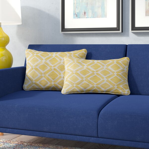 Barna Cotton Blend Throw Pillow (Set of 2) by Mercury Row