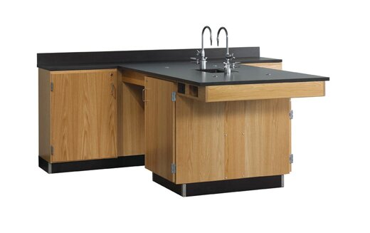Perimeter Workstation with Sink and Fixtures Included by Diversified Woodcrafts