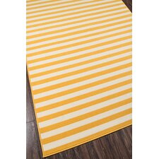 Norris Yellow/White Indoor/Outdoor Area Rug