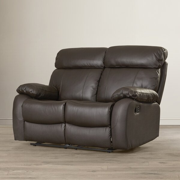 Franciscan Leather Reclining Loveseat by Red Barrel Studio