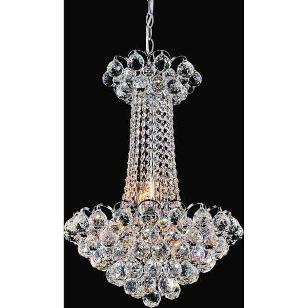 Baskin 9-Light Unique / Statement Empire Chandelier by House of Hampton House of Hampton