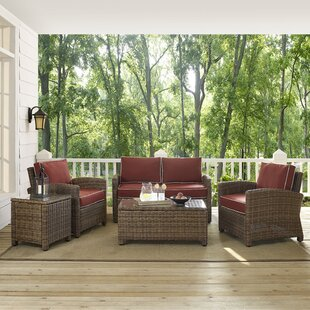 Dardel 5 Piece Rattan Sofa Set with Cushions By Beachcrest Home