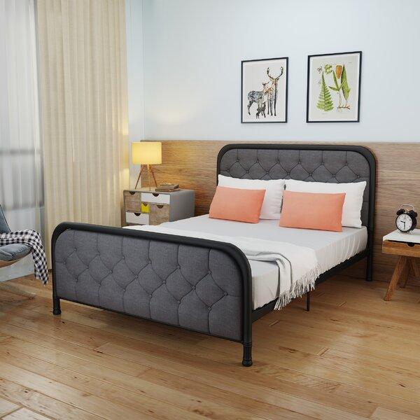 Levasseur Industrial Queen Upholstered Platform Bed by House of Hampton