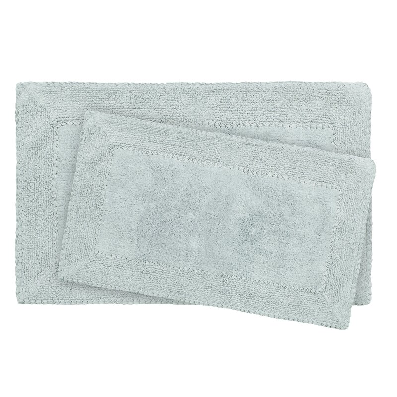 2-Piece Ruffle Cotton Bath Rug Set