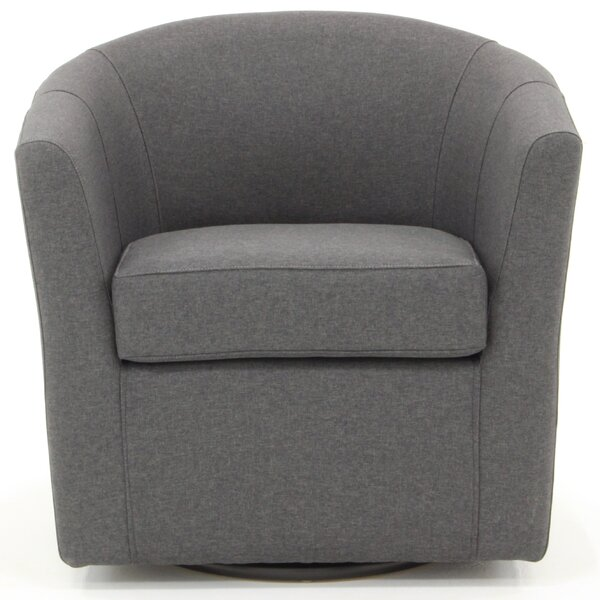 Molinari Swivel Barrel Chair by Ebern Designs Ebern Designs