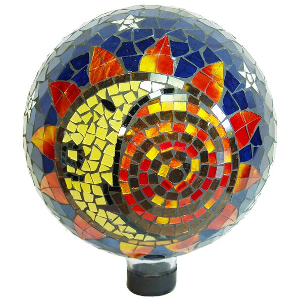 Sun Moon Mosaic Gazing Globe by Echo Valley
