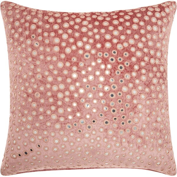 Mika Square Velvet Throw Pillow by Bungalow Rose