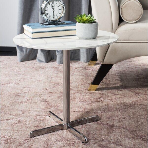 Winnie Pedestal End Table By Everly Quinn